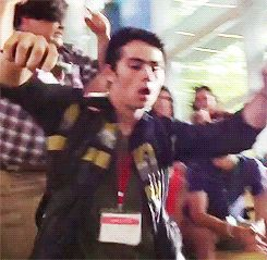 """Here's Dylan dancing while lip-synching to """"Call Me Maybe"""" on the set of """"The Internship"""":"""