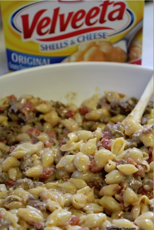 Are you looking for an easy family dinner? This Tex Mex Velveeta Shells and Cheese recipe with ground beef is so easy to make! All you need is a few ingredients and a skillet and you are ready to go!