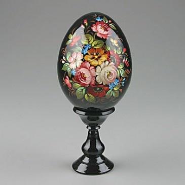 Floral Wooden Egg