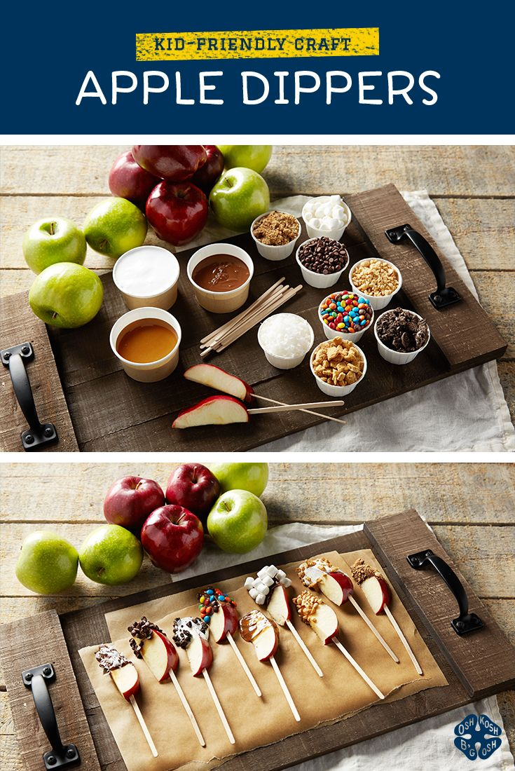 Give them a taste of fall with these kid-friendly apple dippers!