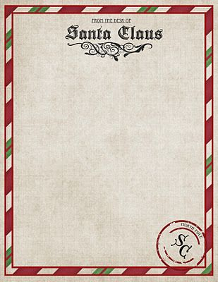 Free North+Pole+Stationary & letters to Santa