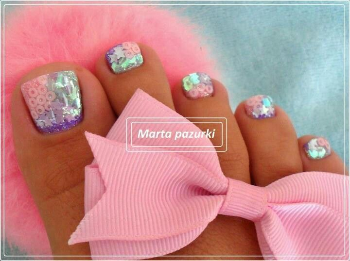 ☪☪Summer Toe, Nails Art, Glitter French Manicure, Cute Nails, Nails Design, French Manicures, Toes Nails, Pedicures Art, Nails Ideas