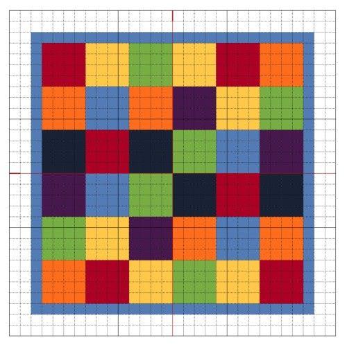 Cross Stitch Rainbow Block 7 - The Crafty Mummy