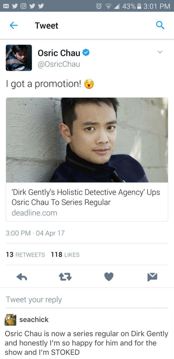 Dirk Gently's Holistic Detective Agency, Dghda, Vogel, Osric Chau