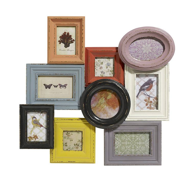 Large Multicoloured Picture Frame By Nordal from notonthehighstreet.com