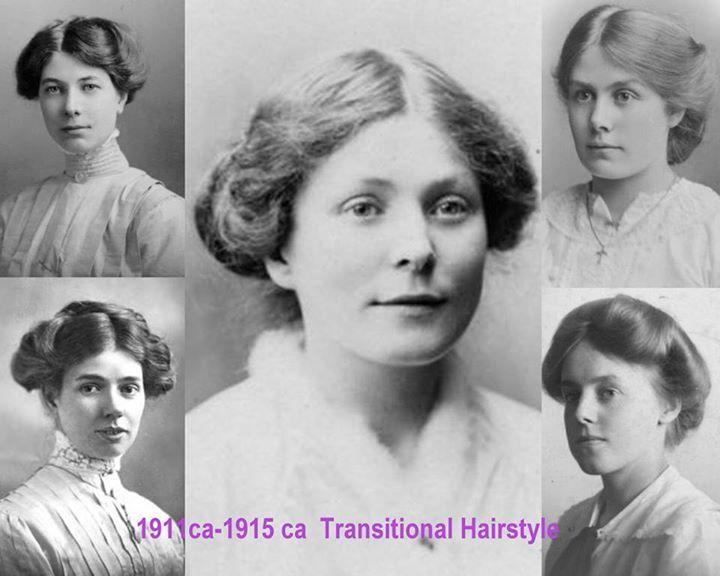 Simple hairstyles 1911 - 1915 | Edwardian hairstyles