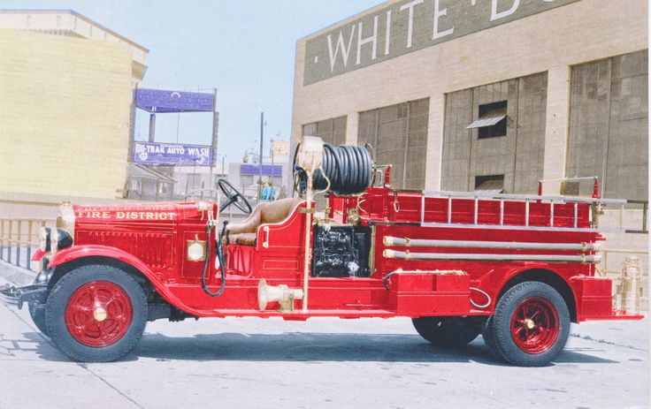 Open Cab Pumper Fire Truck Postcard, circa 1930's, Emerald Lakes Fire District, Mt. Pocono, Pennsylvania from Debby in Morgantown, West Virginia