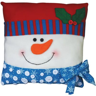 Make a snowman craft that's both cute and comfortable. Guests won't be able to stop themselves from cuddling up with this adorable little guy that you can make with a super easy Christmas sewing applique kit. $15.29