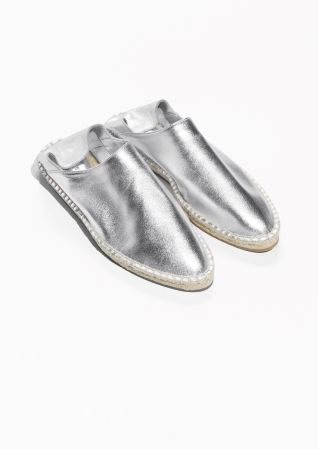 & Other Stories image 2 of Espadrille Slip-In  in Silver