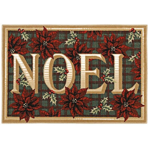 """Shaw Noel 2'7""""x3'10"""" Holiday Rug ($59) with Free Shipping found on at www.ftlfloorstogo.com"""