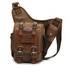 Neu Herren Damen Vintage Canvas Rucksack Retro Rucksack Tasche Männer Männlich Jungen Triangle Bag Brusttasche Klassische Einzel Schulter Umhängetasche: Amazon.de: Bekleidung