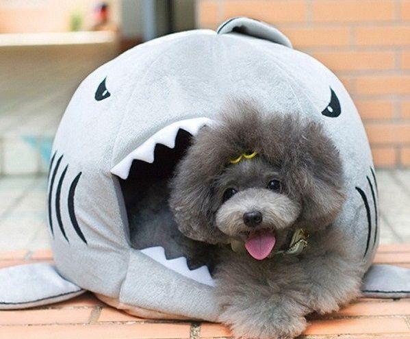 """Лежанка дизайнерская для кошек и собак """"Акула"""""""