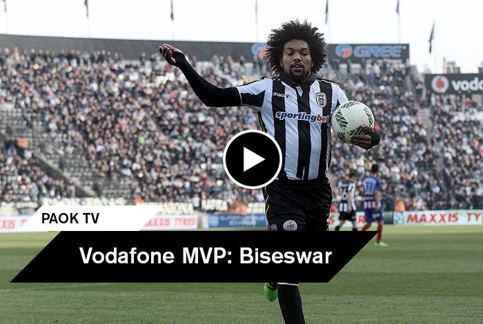 Ο Ντιέγκο Μπίσεσβαρ ανακηρύχθηκε από τους εκπροσώπους του Τύπου που βρέθηκαν στο γήπεδο της Τούμπας ως ο Vodafone MVP της αναμέτρησης και μίλησε στην κάμερα του PAOK TV αφού παρέλαβε το βραβείο του.