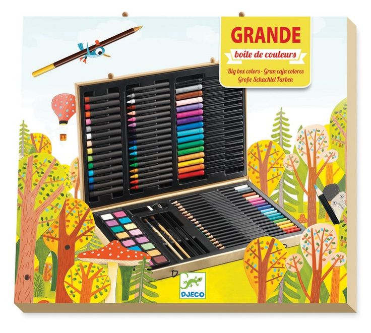What a perfect gift to provide hours and hours of school holiday fun.... and encourage less screen time! #EntropyWishList #PinToWin Djeco - Big Box of Colours Set