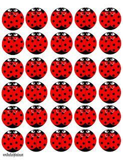 Lady Bug Peppermint Patties Free Printable | Kandy Kreations