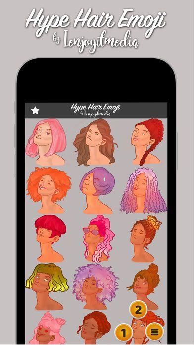Hype Hair Emoji App review screenshots