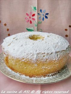 Mia sorella Annacarla mi ha passato la ricetta della CHIFFON CAKE e ..eccola qui! Soffice , delicata profumata all'arancio e..buonissima!!!!La cucina di ASI