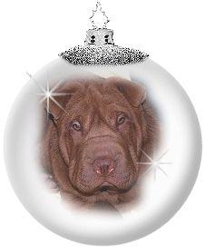 Merry christmas   Sharpei  kerst hond  - Christmas dog