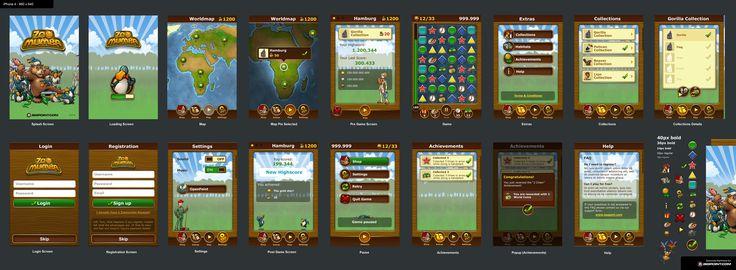Different UI screens