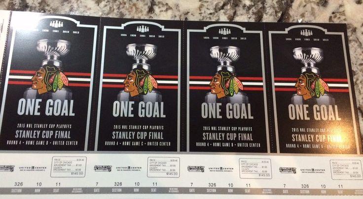 Chicago Blackhawks 2015 Stanley Cup Finals Ticket Stub Set Season Ticket Book | eBay