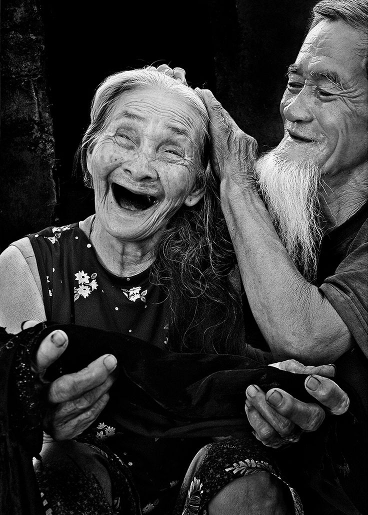 Elderly happy couple #senior #aging #silverfox #old #funny #laughter - Carefully selected by GORGONIA www.gorgonia.it