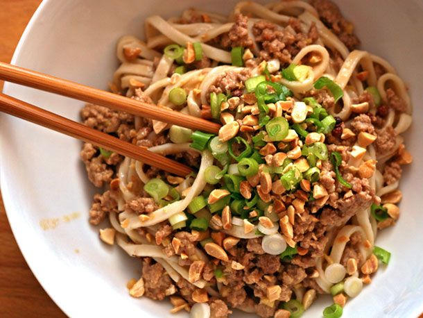 Dan Dan Noodles, a meal in 20 minutes if you're organized (so probably ...