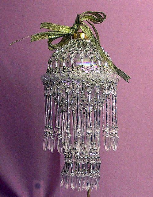 like the bugle bead idea ... Puyallup Fair 2005 - Bead Ornament 2 | like a mini chandelier