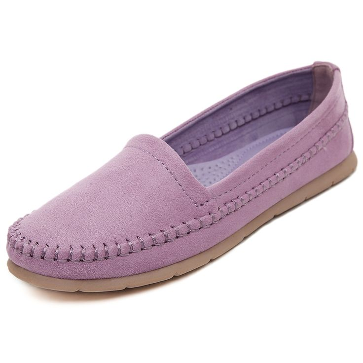 57.90$  Buy now - New Arrival 2016 Spring and Autumn Handmade Loafers Women Flats Shoes Soft Comfortable Fashion Womens Flats Hot Sale Slip On  #shopstyle