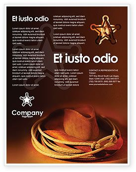 Get this stylish cowboy hat flyer template at http www for America brochure template