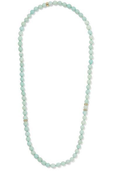 Carolina Bucci - Recharmed 18-karat Gold, Amazonite And Tanzanite Necklace