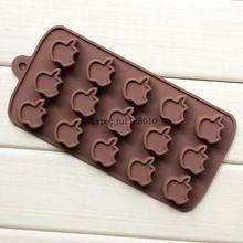 15 reticulados Da Apple forma silicone mold bolo de chocolate silicone mold FDA…