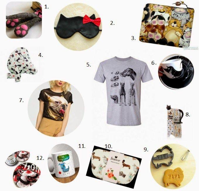 12 prezentów dla miłośników psów i kotów pod choinkę. #koty #psy #prezenty