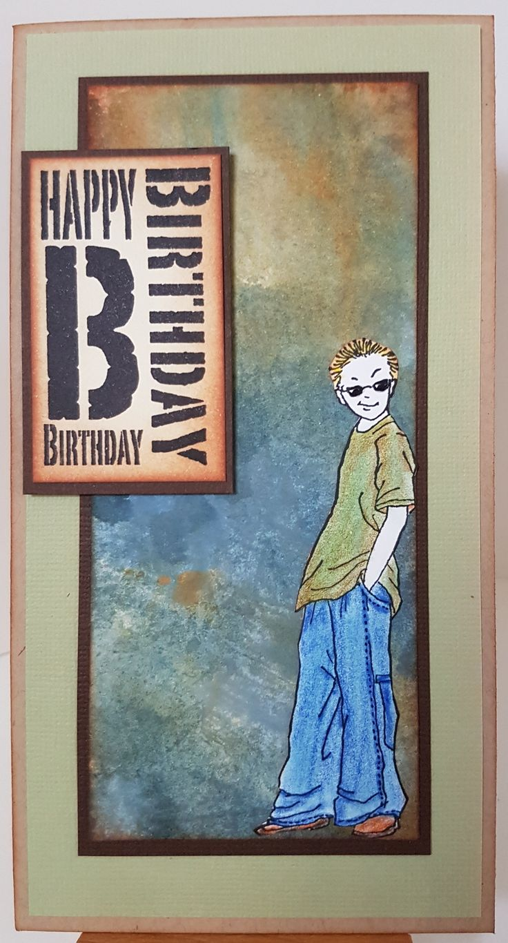 Joey 2565E and Bold Birthday 3203D by Stamp-it. Card by Susan of Art Attic Studio