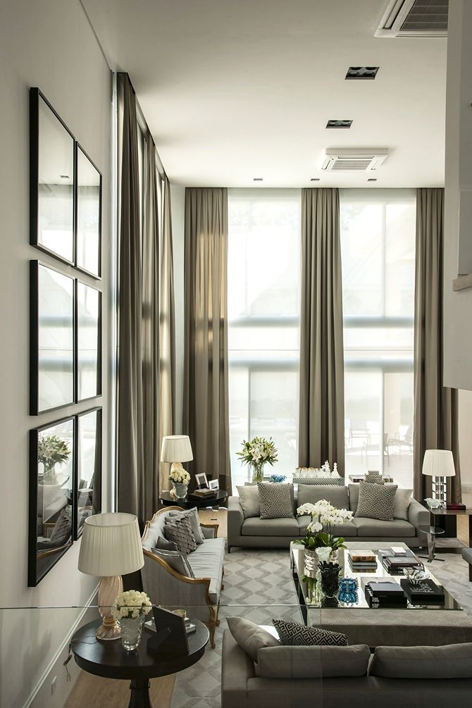 105 best Two Story Drapery Ideas images on Pinterest