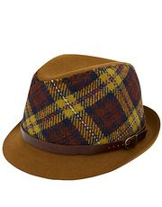 Yellow Tartan Wool Hat