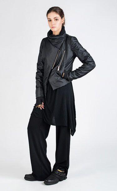 AMMATO - Black wide leg jersey pants