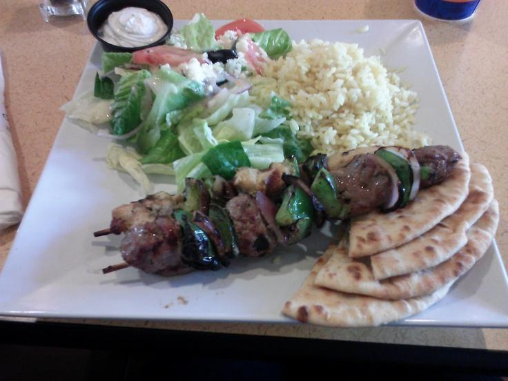 Marinated Greek Chicken & Beef Kabobs | Yummies we