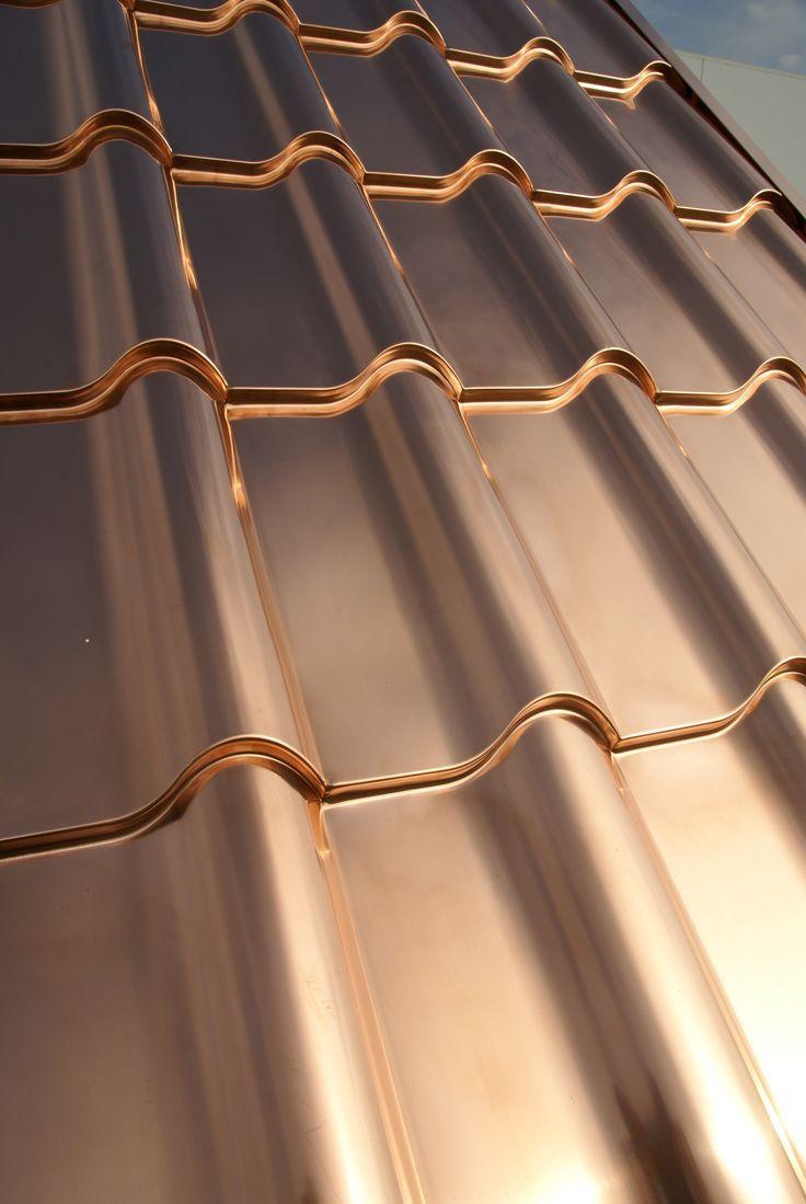 Copper Roofing Interlock Metal Roofing In 2020 Copper Roof House Metal Roof Copper Roof