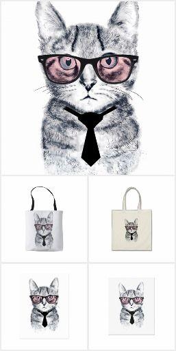 Panka's Smart Cat design collection on items