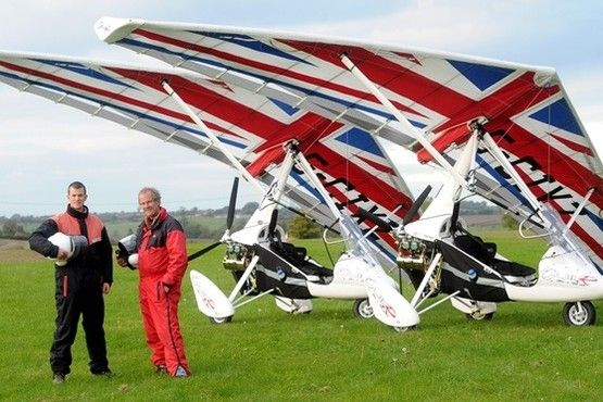 Microlights above Gloucestershire