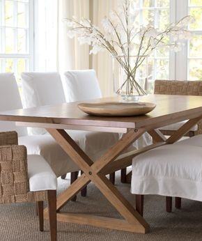 loving the picnic table style of this dining room table now if only