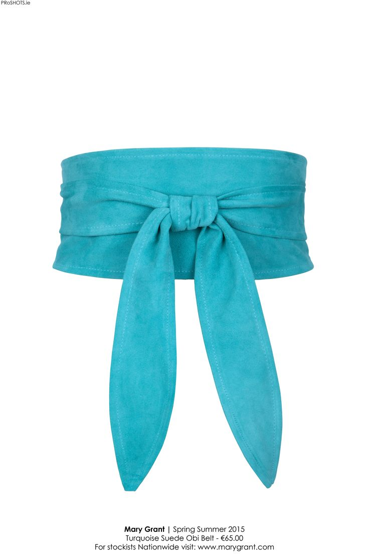 Turquoise suede obi belt. Love to mix this with greens and summer prints