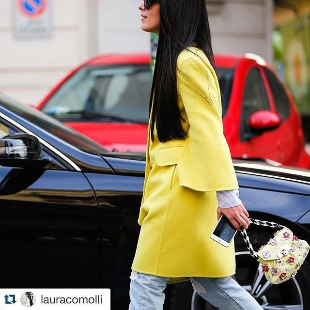 The new Cherie bag from the S/S 16 collection worn by Laura Comolli