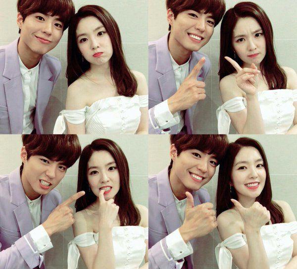 Park Bo Gum and Red Velvet's Irene Celebrate 1 Year as MC's on Music Bank   Koogle TV