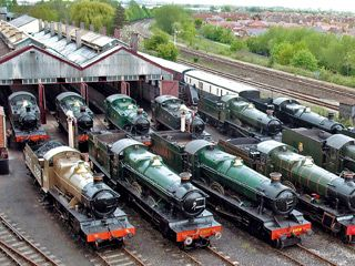 Can't resist a visit to Didcot Railway Museum, Great Western Society's unique collection of steam engines, coaches and wagons, all just fifteen minutes' drive from The Old Post Office, Wallingford