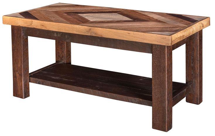 Pallet Wood Diamond Coffee Table