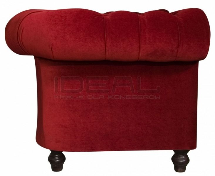 czerwona sofa chesterfield, red chesterfield, pluszowa sofachesterfield, velvet chesterfield, styl angielski, armchair   karmazyn, ceglana, perpur , red, sofa chesterfield, fotel_chesterfield_lady_rem_IMG_3806.jpg (732×600)
