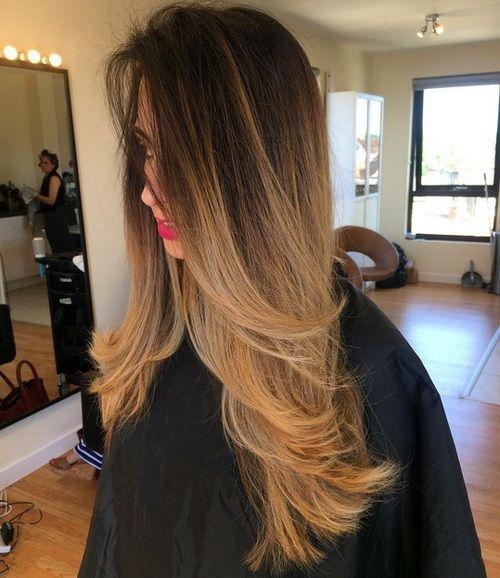 Lange glatte haare ombre