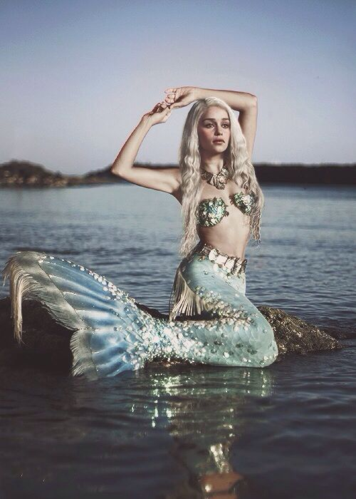 Mermaid Paradise.... great photo shop of Daenerys from Game of Thrones