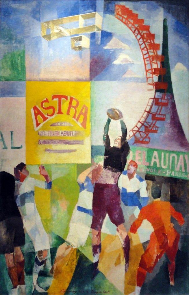 Robert Delaunay, L'Équipe de Cardiff, 1913. Paris, Musée d'Art Moderne de la Ville de Paris